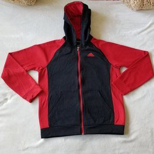 Adidas Climawarm Women's XL (18) Hoodie Red Black